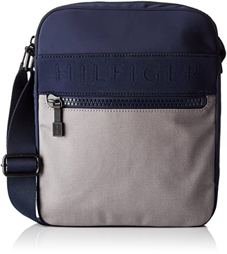 548ef80d95 Tommy Hilfiger Am0am02077, Men's Messenger Bag, Multicolor (Navy/Frost  Grey),