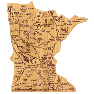 Totally Bamboo Minnesota State Destination Bamboo Serving and Cutting Board