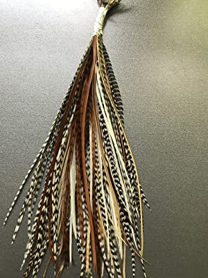 100 Hair Craft Feathers SHORT TO MEDIUM LENGTH, 5-7