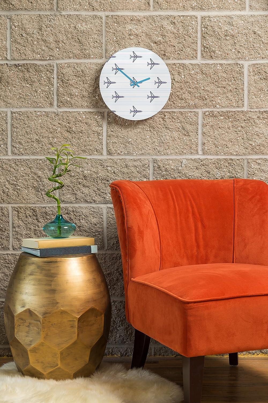 Small 50405-clkqs2 Deny Designs Vy La Quatrefoil Clock Robots and Triangles