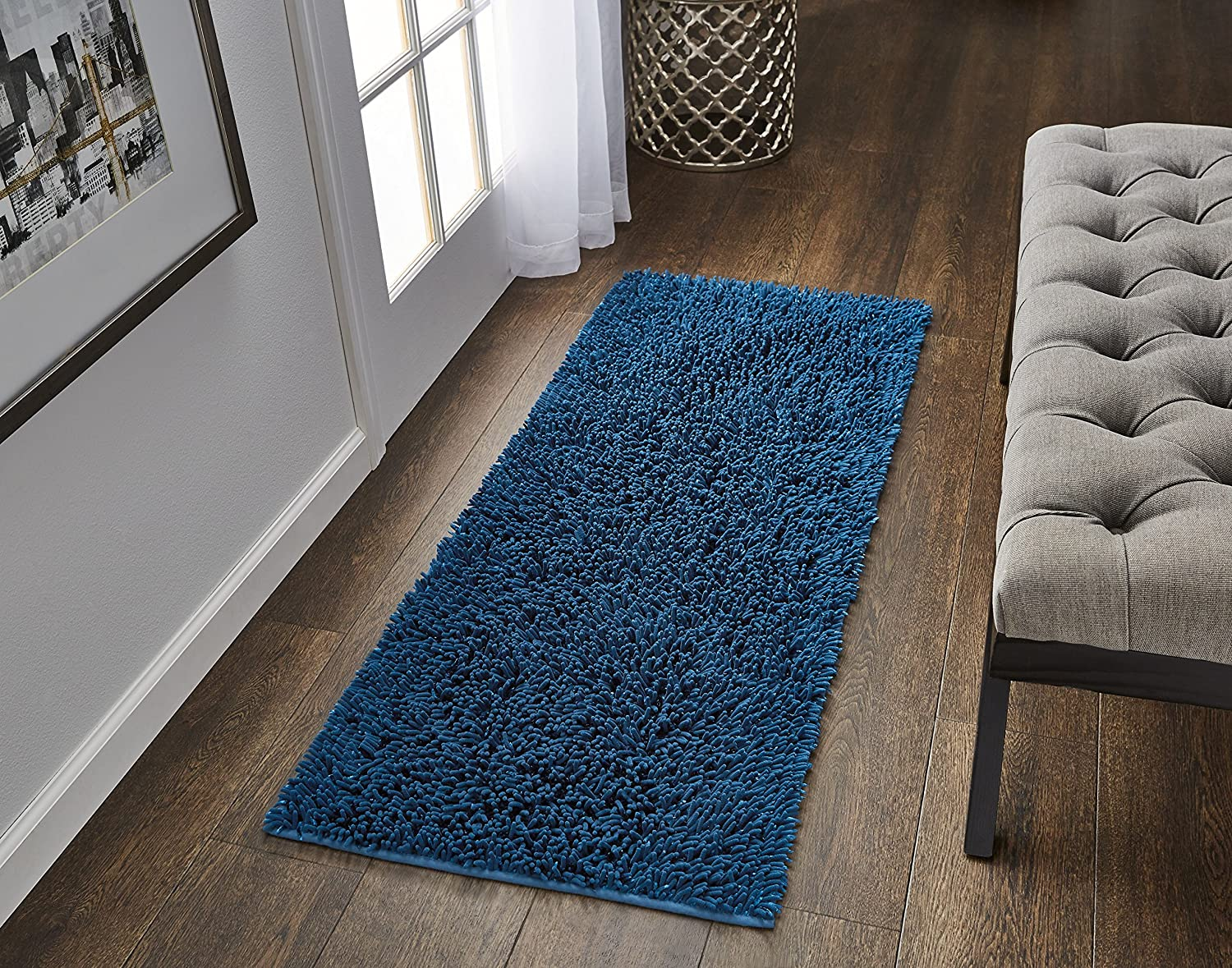 VCNY Home Gala Bathroom Rug 24 x 60 Coral