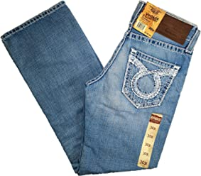 73a3d35381c Big Star Vintage Mid Rise Pioneer Bootcut Omega Pocket Distressed Jean
