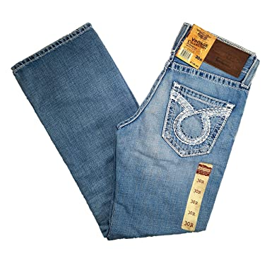 046193e7f41 Big Star Vintage Mid Rise Pioneer Bootcut Omega Pocket Distressed Jean (30R)