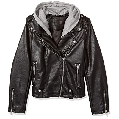 [BLANKNYC] Big Girl's Faux Leather Jackets Outerwear, neo, XL: Clothing