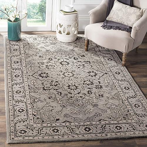KAS Oriental Rugs Corinthian Collection Fleur-De-Lis Area Rug, 3 3 x 4 11 , Black