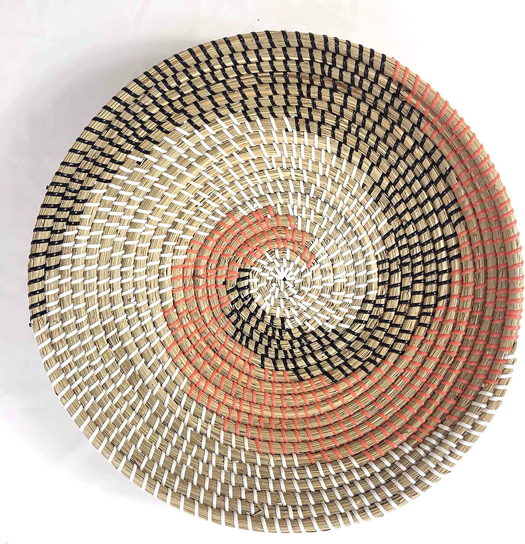 La House Decorative Woven Seagrass Basket Bowl Fruit Bowl Wall Decor D15.74/'x H3.74/'