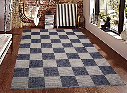 Saral Home Soft Cotton Handloom Made Multi Purpose Floor Rugs -140x200 cm