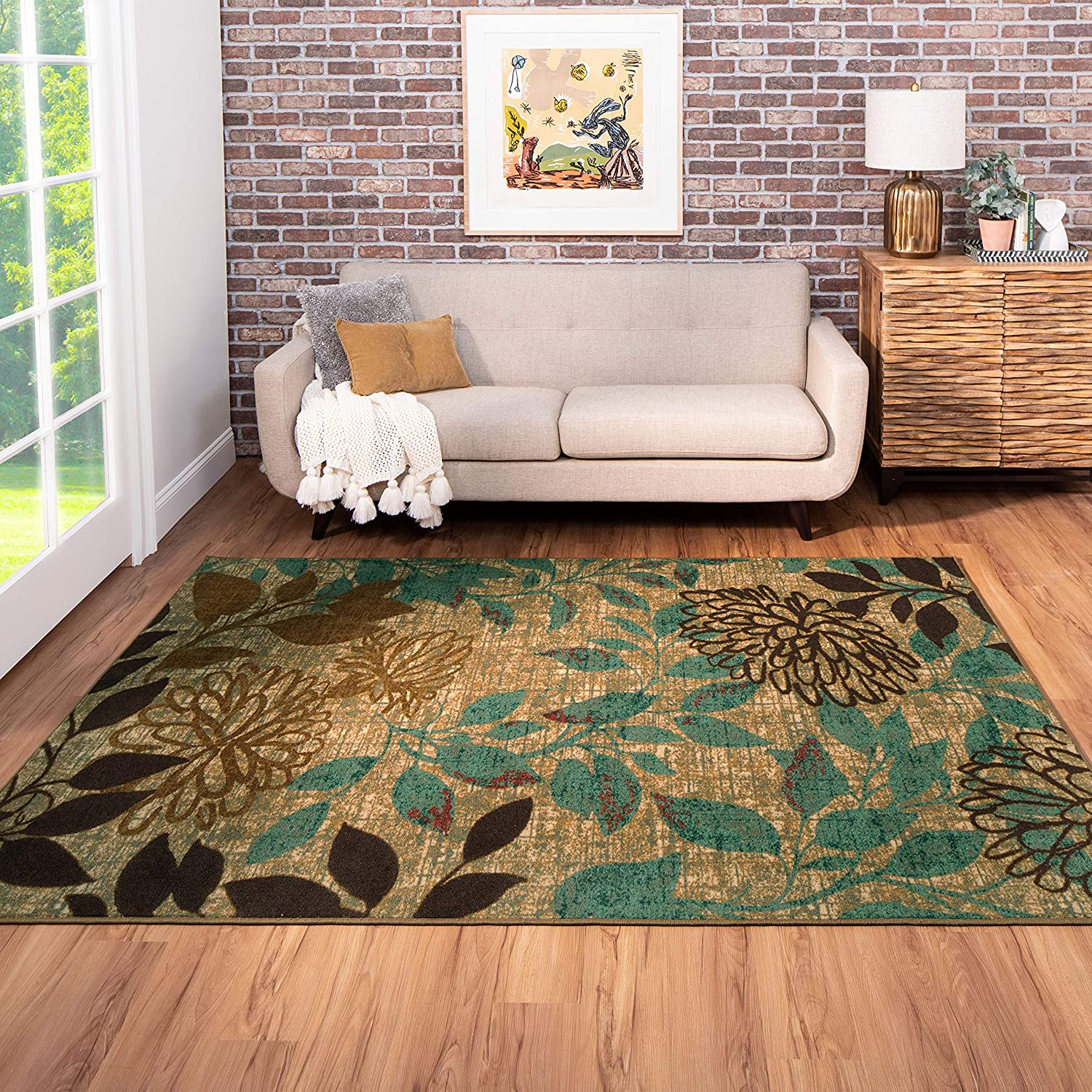 Mohawk Home Bella Garden Floral Indoor/Outdoor Patio Printed Area Rug, Multicolor