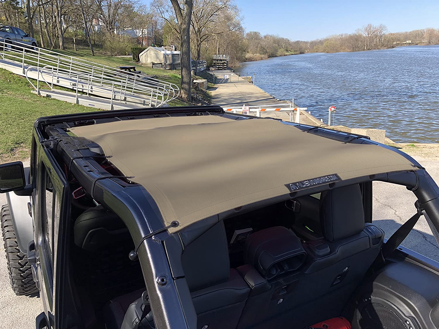 ALIEN SUNSHADE Jeep Wrangler 2018+ JLU Full Length Sun Shade Mesh top for 4-Door Unlimited Blocks Harmful UV Rays