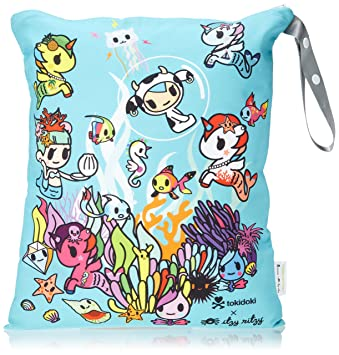 1c28d1453cd3 Itzy Ritzy Wet Bag with Adjustable Handle – Washable & Reusable Wet Bag  with Water Resistant Lining...