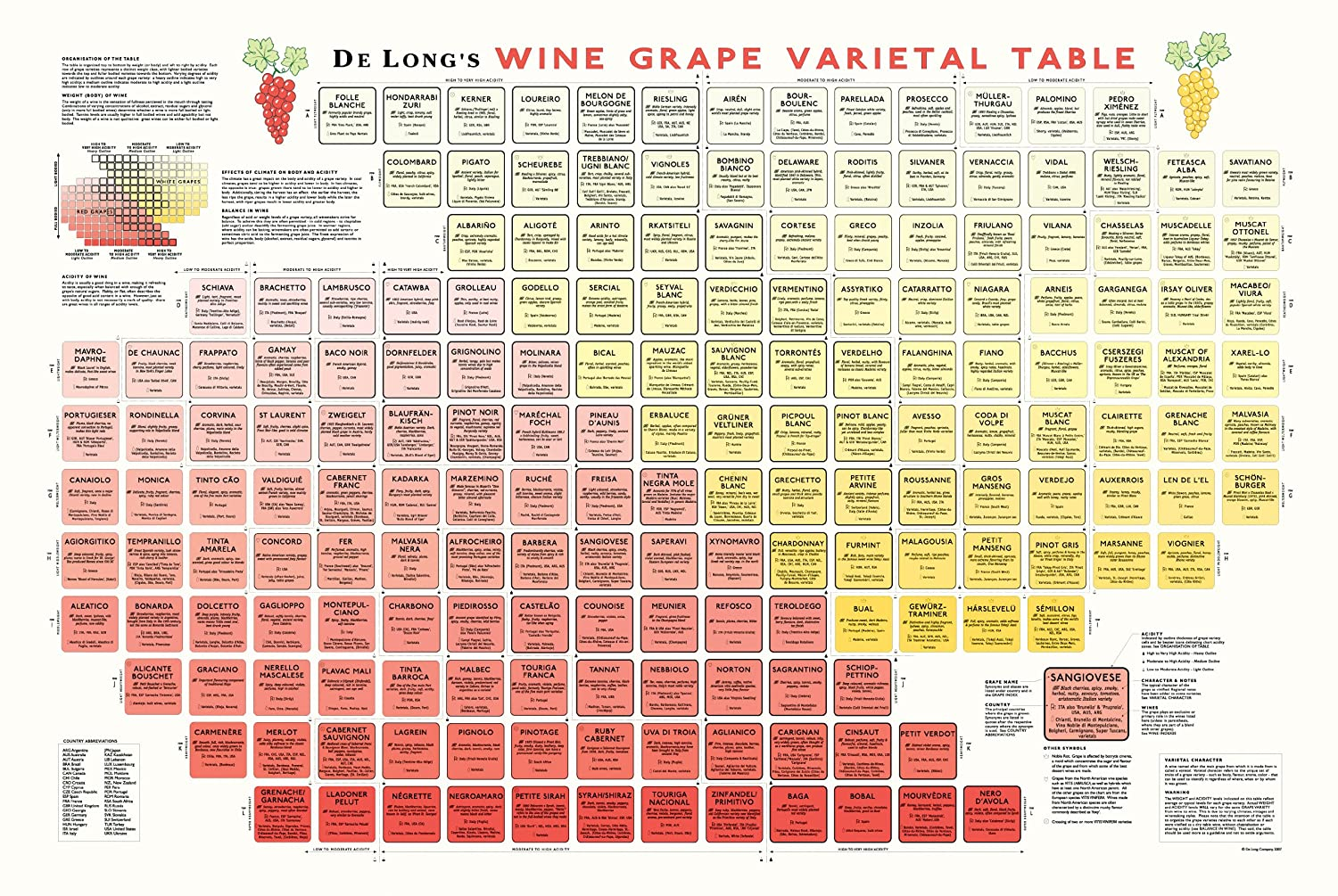 Amazon true fabrications delongs wine grape varietal table amazon true fabrications delongs wine grape varietal table poster the periodic table of wine grape varietals prints posters prints gamestrikefo Images