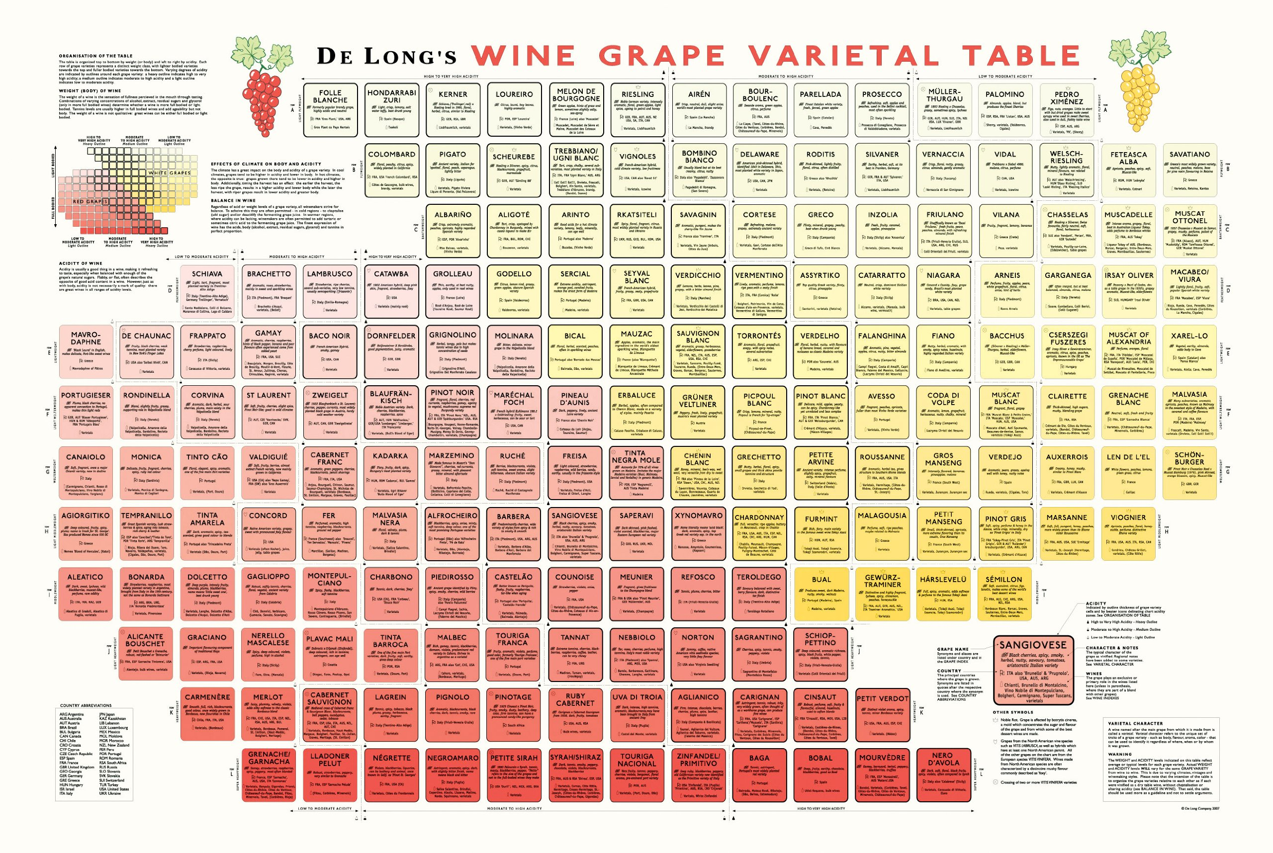 A1stioanglg true fabrications delongs wine grape varietal table poster the periodic table of wine grape varietals gamestrikefo Choice Image