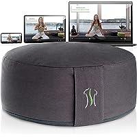 BACKLAxx® Overtrek meditatiekussen met boekweitvulling yogakussen - zithoogte 15 cm en zitbreedte 35 cm yoga zitkussen…