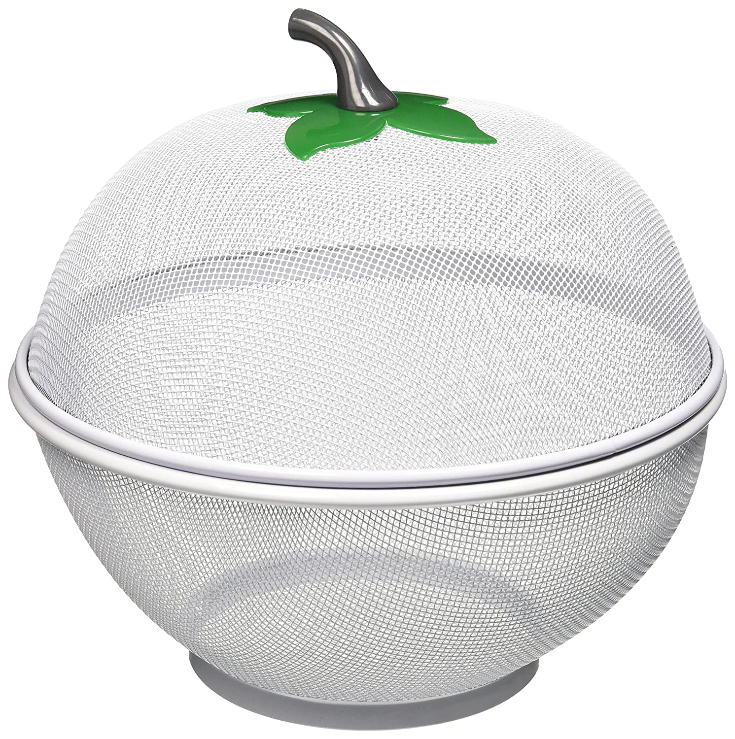 Uniware® Apple Net Fruit Basket with plastic Coating, 10.5 Inch, Silver 2203