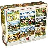 Ceaco 10-in-1 Multi Pack Americana Puzzles (900 Piece)