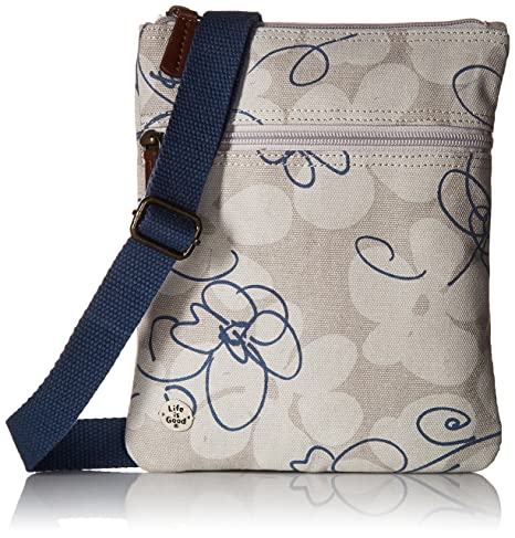 723554910c3f Life is Good Wander Free Crossbody All Over Flowers Outdoor Backpacks