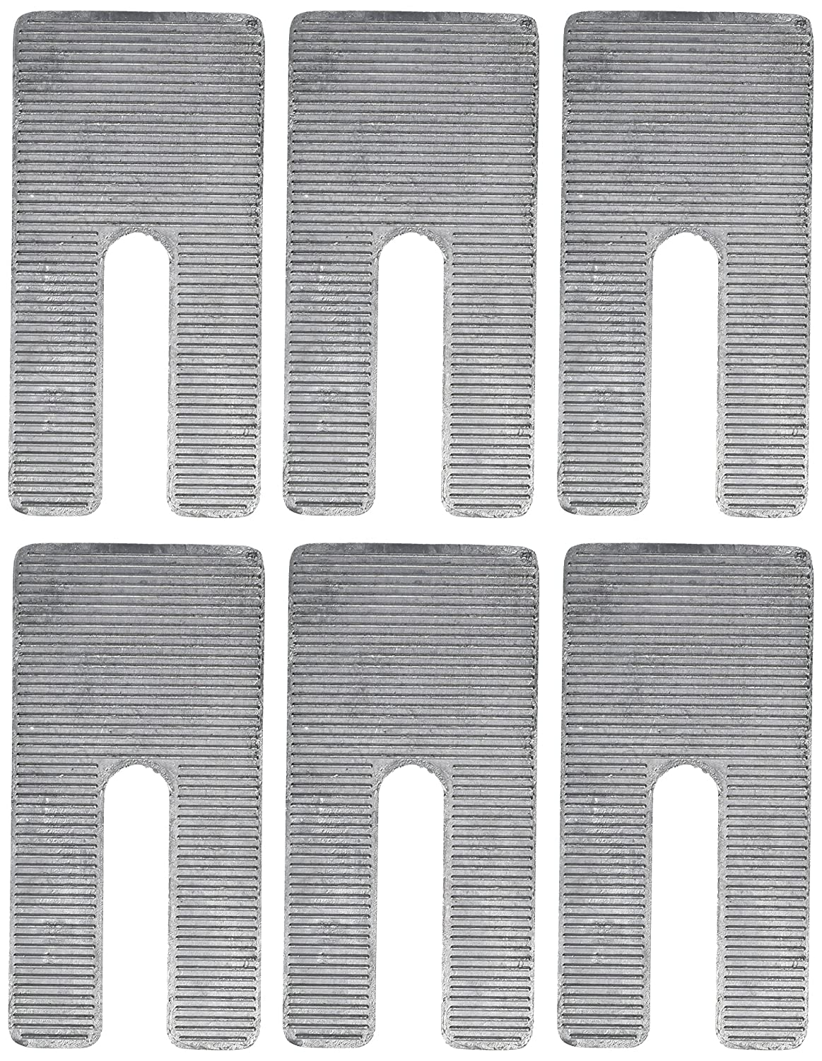 Specialty Products Company 10522 3 x 6 x 1.5/° Aluminum Alloy Shim, Pack of 6