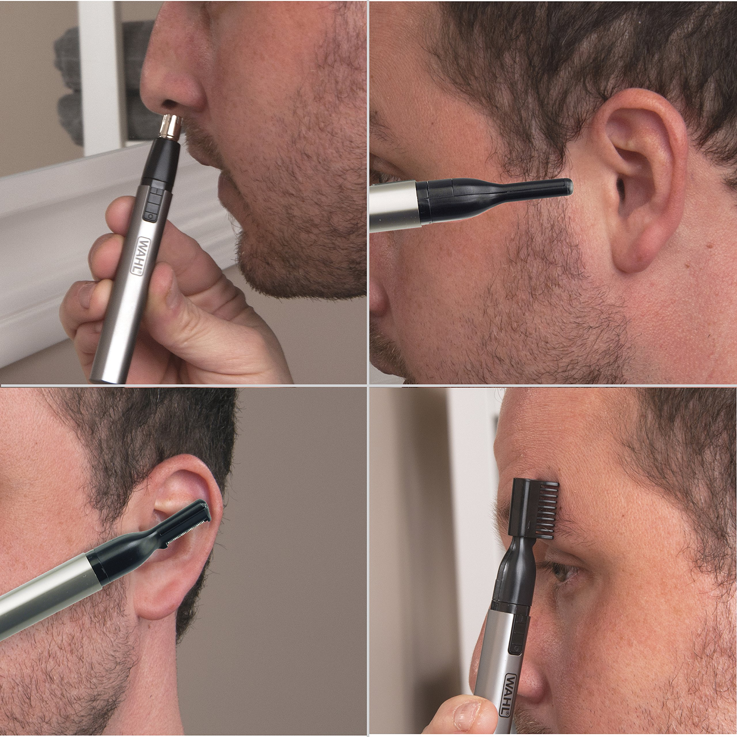 Wahl Lithium Micro Groomsman Trimmer, Compact, Cordless, Battery Operated, Includes Guide Comb, Detail Trimmer for Eyebrows, Sideburns, and Neckline Trimming, and Eye and Nose Hair Trimmer, 5640-1001 by Wahl (Image #6)