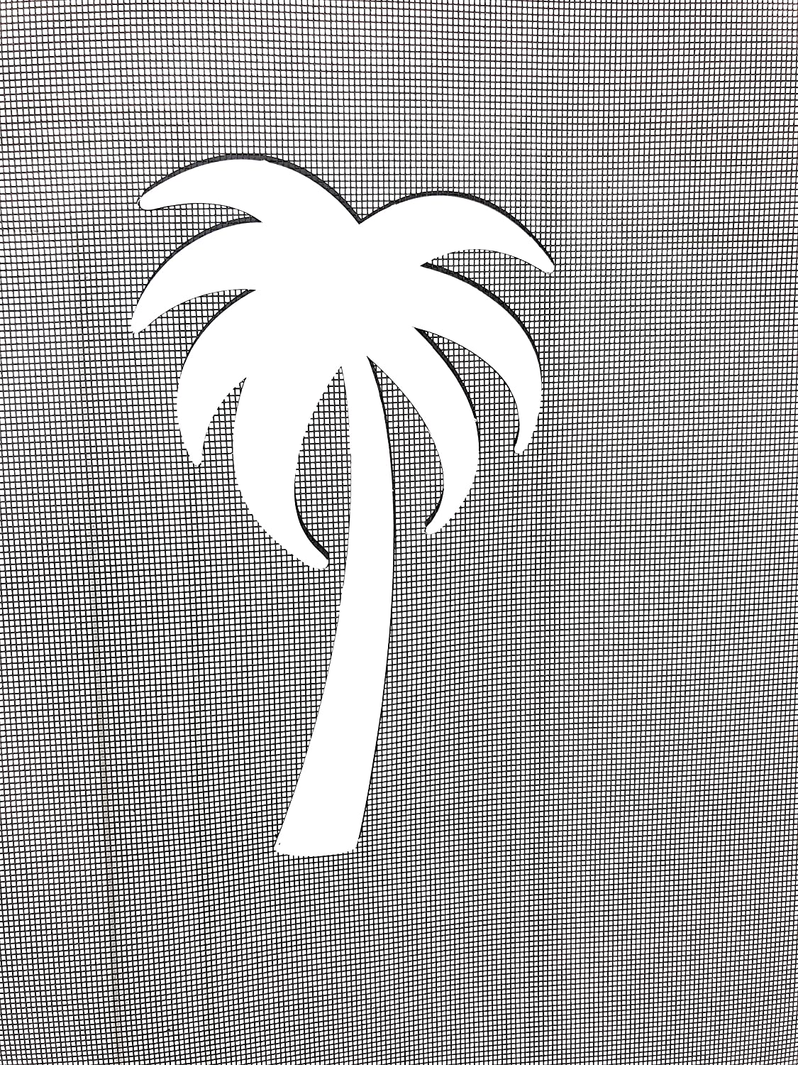 "DCentral Palm Tree Flexible Screen Magnet Decor; Multipurpose, Double-Sided, for Non-Retractable Screens, Helps to Stop Walking into Screens, Covers Small tears in Screens. Size W 4.5"" X 7.5"