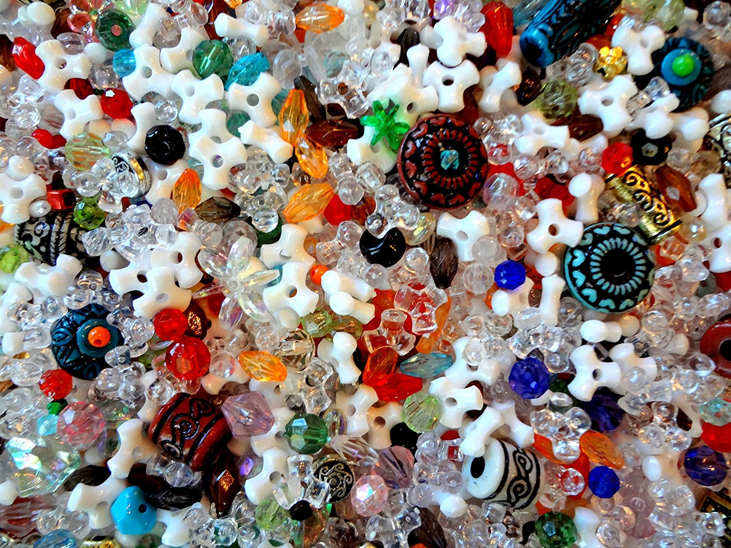 Plasstic Beads Bulk  Beads For Jewelry Making  Assorted beads 5 to 14mm /_0.5lb per Bag /_ 3 Styles Available