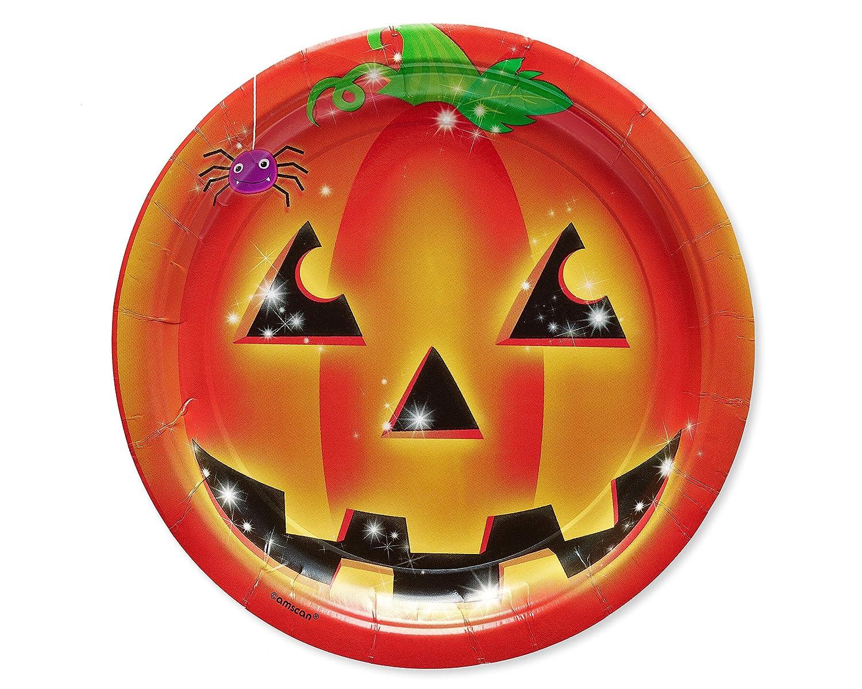 American Greetings Smiling Pumpkin Dinner Plates 10-Count