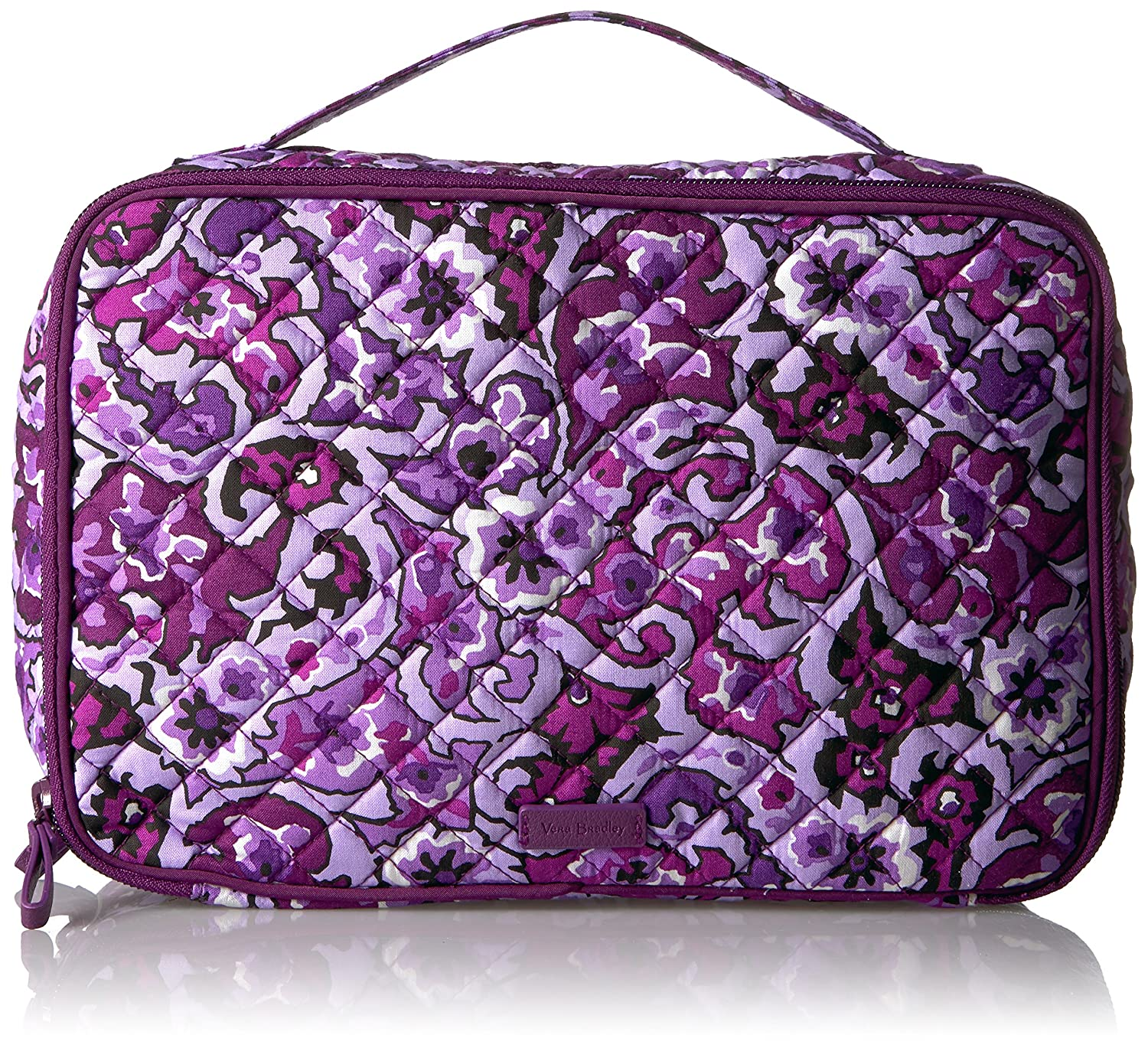 Vera Bradley Iconic Large Blush and Brush Case, Signature Cotton 22115