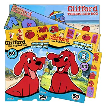 Clifford The Big Red Dog Coloring Book Set With Stickers And Posters 2
