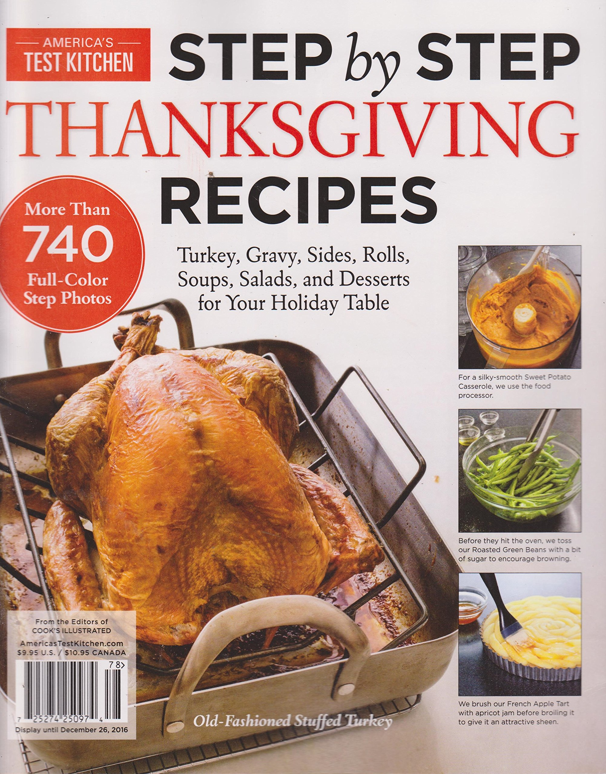 America S Test Kitchen Magazine Step By Step Thanksgiving Recipes