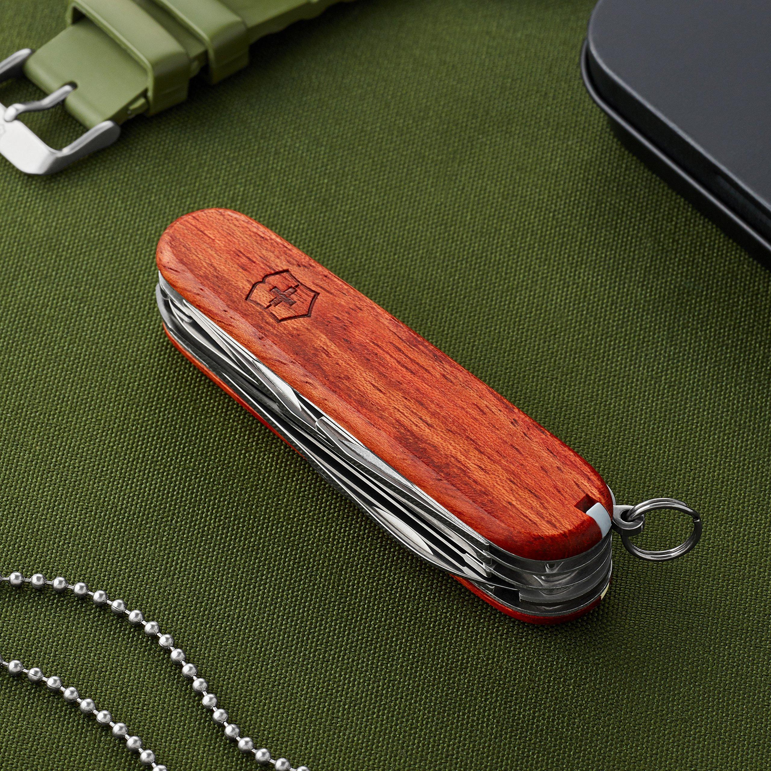 Victorinox Swiss Army Huntsman Pocket Knife, Hardwood,91mm by Victorinox (Image #2)
