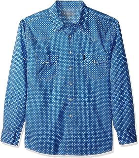 Cinch Mens Classic Fit Long Sleeve Button Two Flap Pocket Stripe Shirt