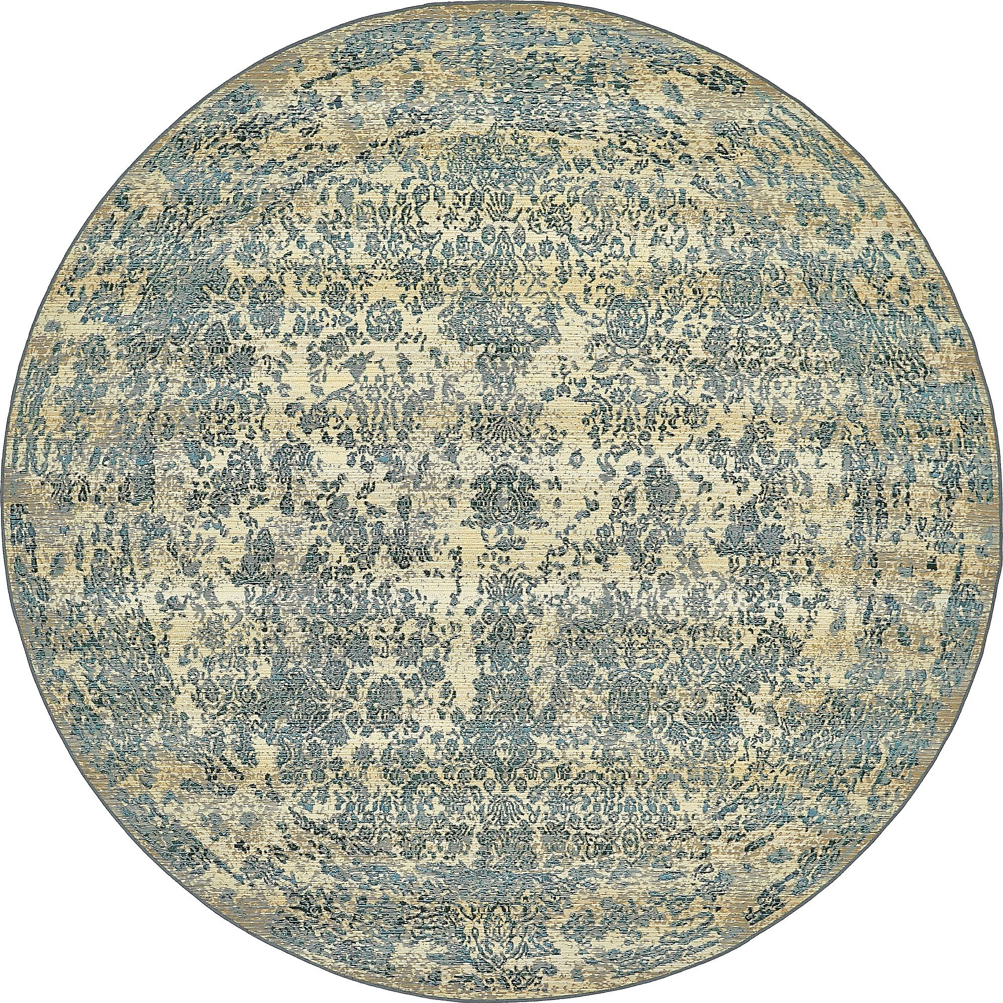 Unique Loom Eden Outdoor Collection Beige 8 ft Round Area Rug (8' x 8') by Unique Loom