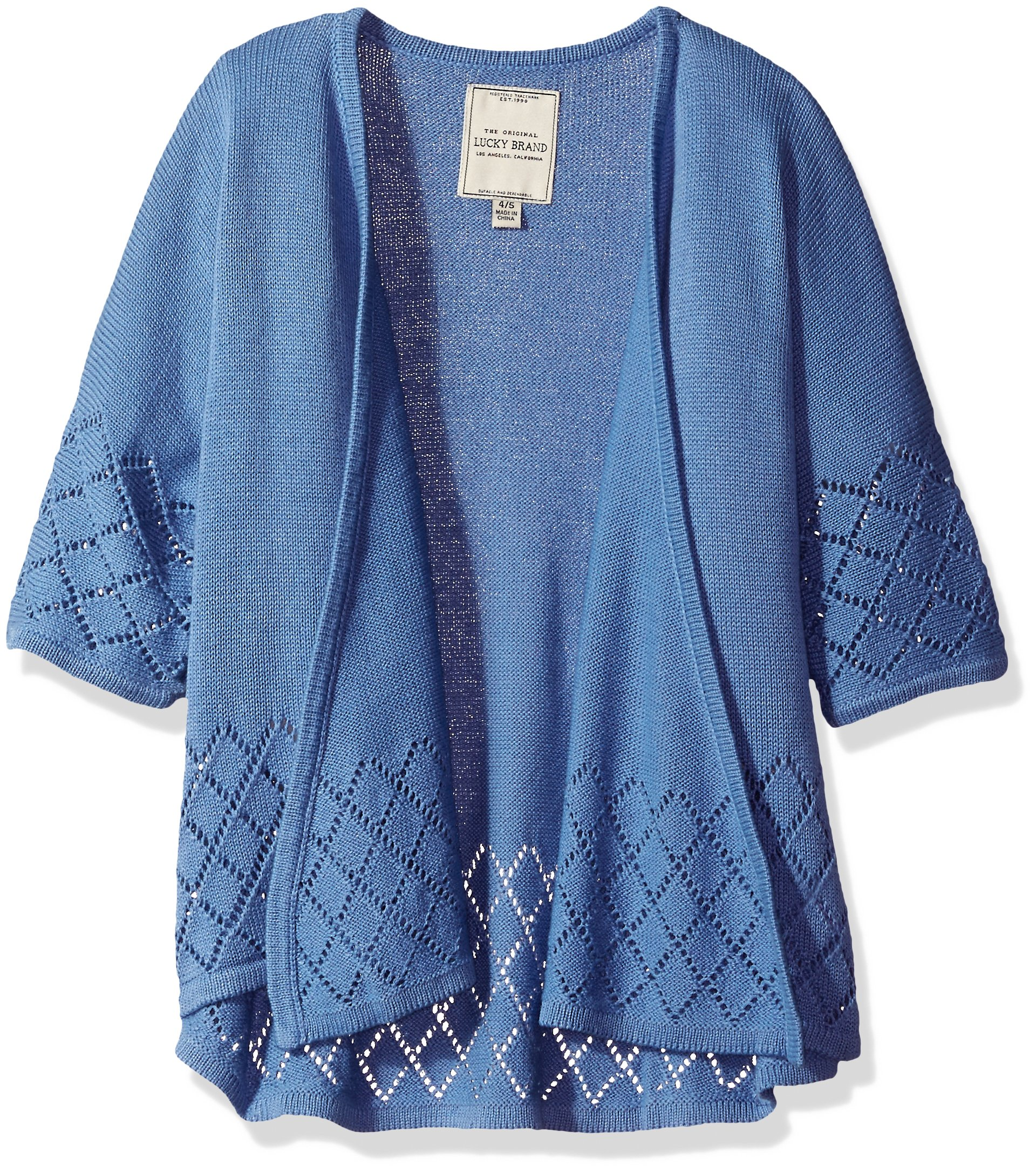 Lucky Brand Little Girls'Fashion Cardigan, Ashley Colony Blue, 6 by Lucky Brand (Image #1)