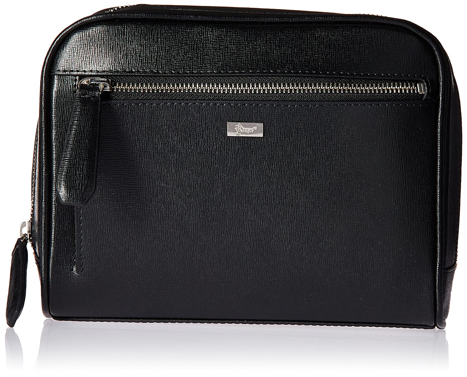 Amazon.com  Royce Leather Toiletry Travel Grooming Wash Bag in Saffiano  Leather, Black  Online Quality Brands LLC 48737c509b