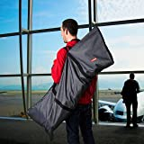 Premium Umbrella Stroller Bag for Airplane Gate Check In - Travel Cover Denim