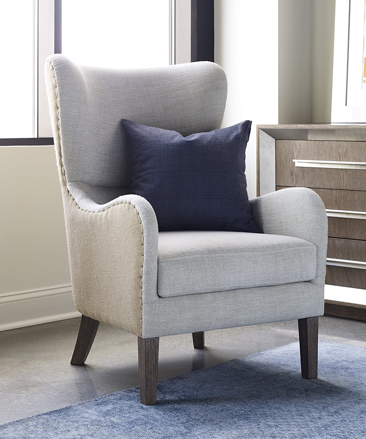 Accent Wingback Chairs Amazoncom Tommy Hilfiger Warner Wingback Chair Two Tone