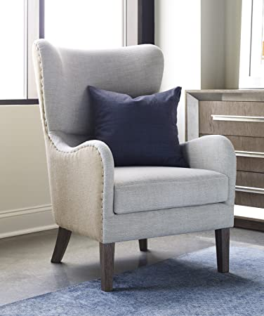 tommy hilfiger warner wingback chair twotone