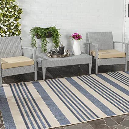 Safavieh Courtyard Collection CYL7062 233A Beige And Blue Indoor/ Outdoor  Area Rug (5