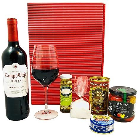 Geschenkset Spanien | Spanischer Geschenkkorb gefüllt mit Wein aus ...
