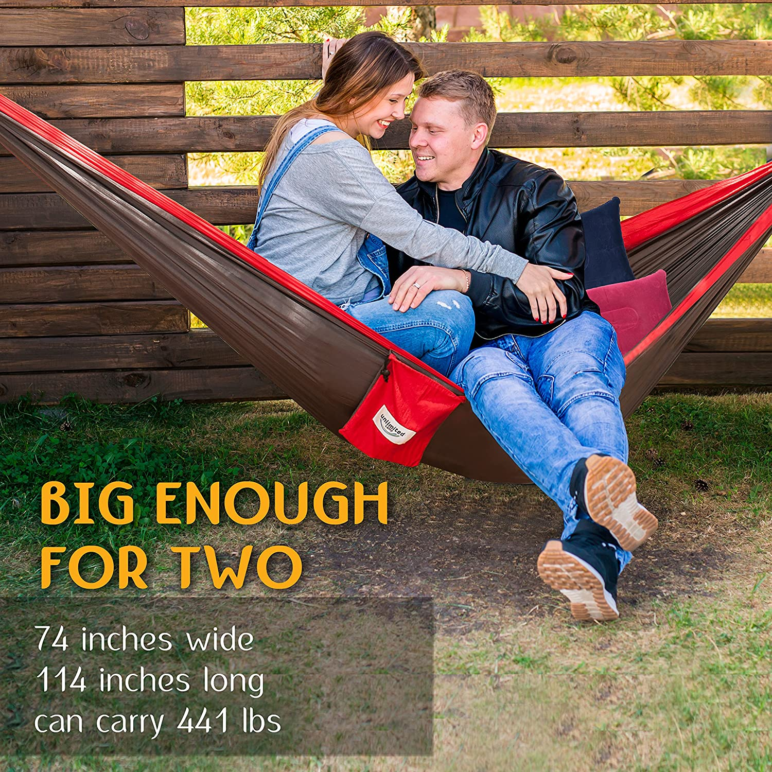 amazon    double camping hammock by unlimited camp  3 seam nylon portable lightweight bedding for camping hiking beach or yard plus free pillows     amazon    double camping hammock by unlimited camp  3 seam nylon      rh   amazon