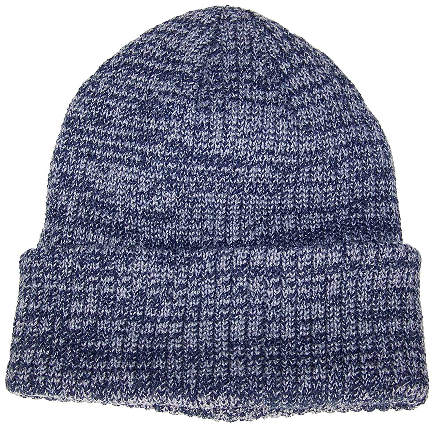 87905ea3346 Best Winter Hats Adult 2 Tone Color Thick W Fleece Lined Cuffed Winter Cap  (One Size) - Blue at Amazon Men s Clothing store