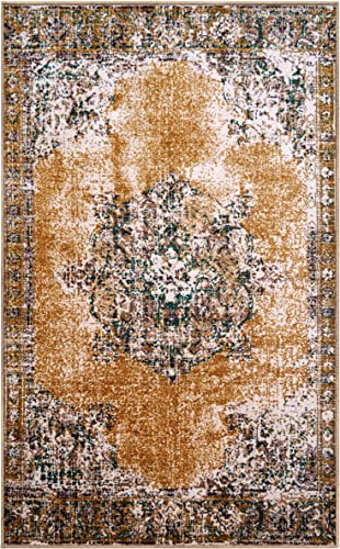 Superior s Designer Non-Slip Aldrich Area Rug Digitally Printed, Low Maintenance, Affordable and Fashionable, Ivory – 8 x 10
