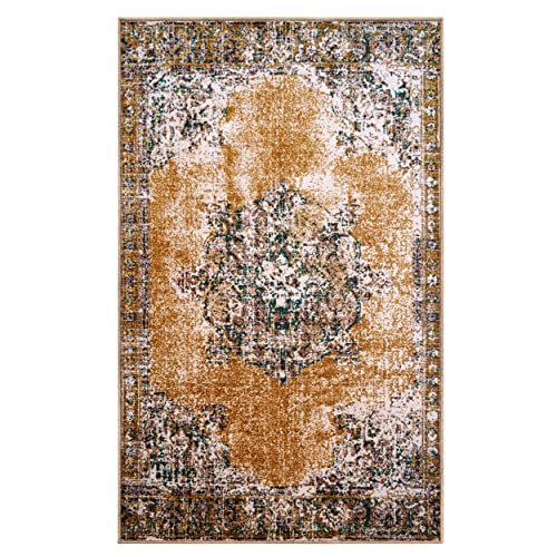 Superior s Designer Non-slip Aldrich Area Rug Digitally Printed, Low Maintenance, Affordable and Fashionable, Ivory – 5 x 8