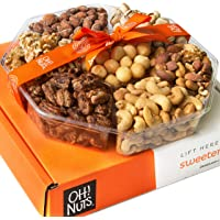 Oh! Nuts Christmas, Gourmet Nut Gift Baskets, Jumbo 2LB 7 Variety Holiday Freshly Roasted Tray, Thanksgiving Mothers…