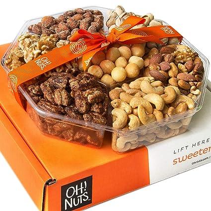 Oh! Nuts Canasta de Navidad, nueces gourmet de regalo de ...