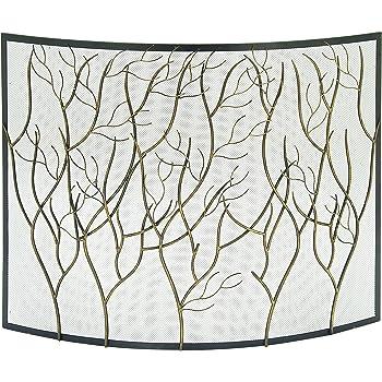 Amazon Com Geometric Single Panel Flat Fireplace Screen