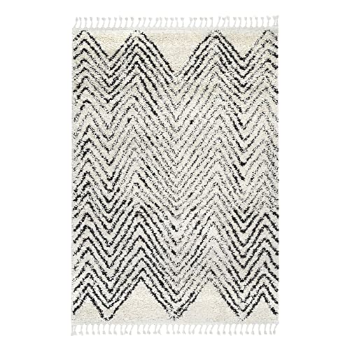 Rivet Contemporary Polypropylene Area Rug, 4 x 6 Foot, Ivory
