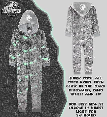 Costume D/éguisement en Polaire pour Halloween Id/ée Cadeau Anniversaire Enfant Et Ado 3-14 Ans Jurassic World Pyjama Combinaison Enfant Dinosaure Indominus Rex