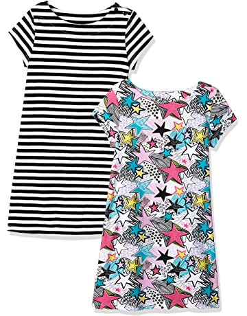 8456c02425255d Amazon Brand - Spotted Zebra Girls' Toddler & Kids 2-Pack Knit Short-