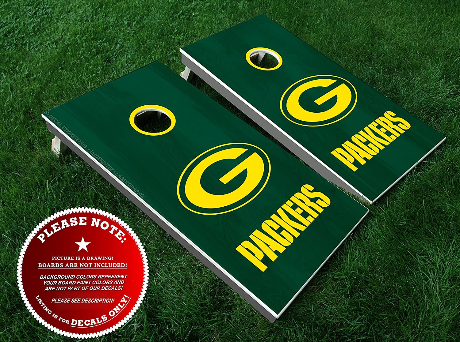 Fantastic Green Bay Packers Cornhole Decals Diy Vinyl Sticker Set For Bean Bag Toss Lawn Games Cornhole Board Building And Decorating Decal Sticker Hub Evergreenethics Interior Chair Design Evergreenethicsorg