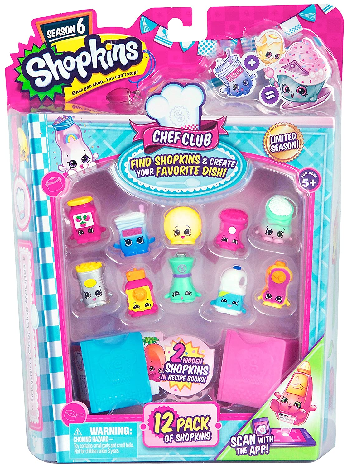 Shopkins Season 6 Chef Club Playset 12-Pack Moose Toys 56144